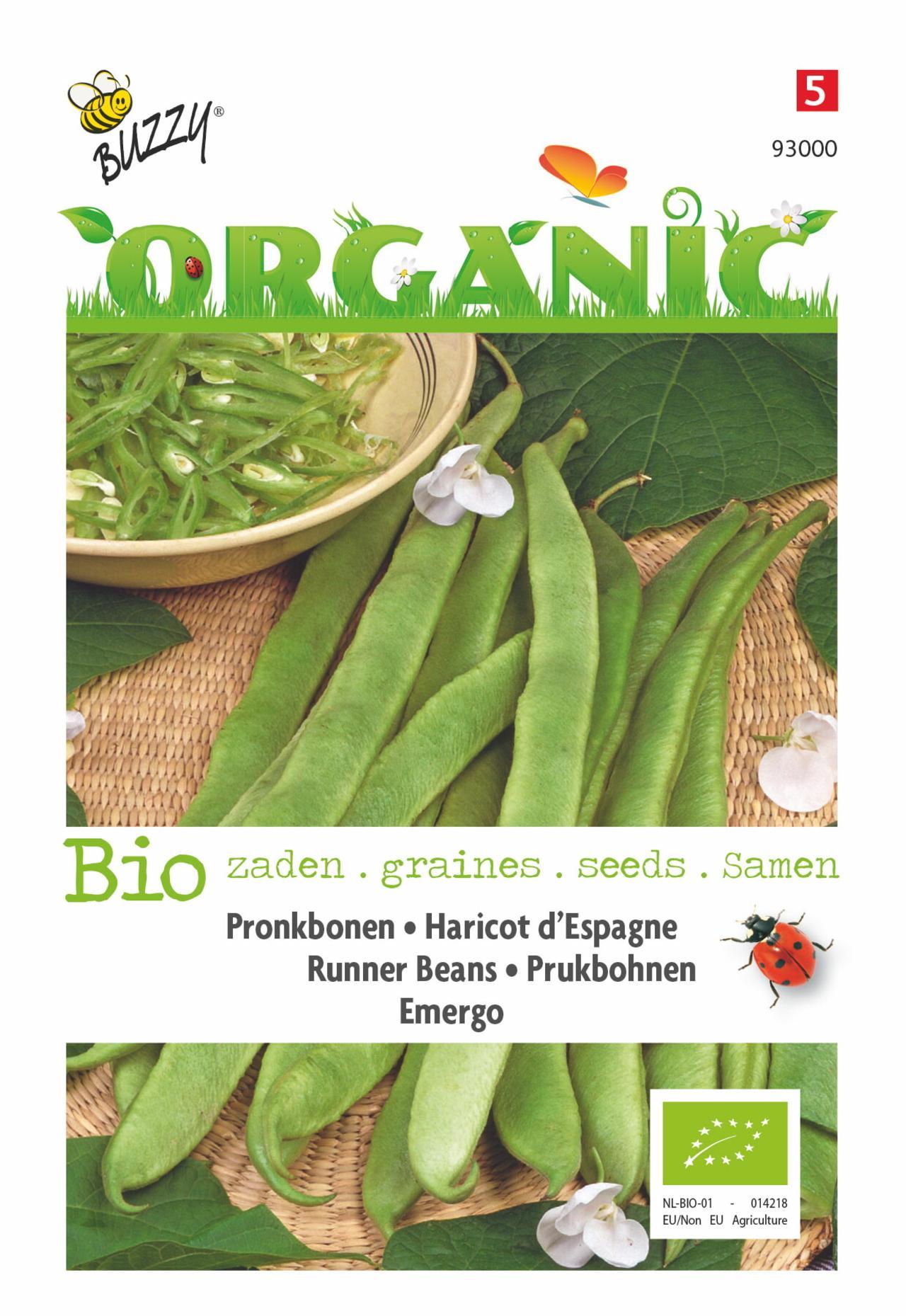 Phaseolus coccineus 'Emergo' (BIO) plant