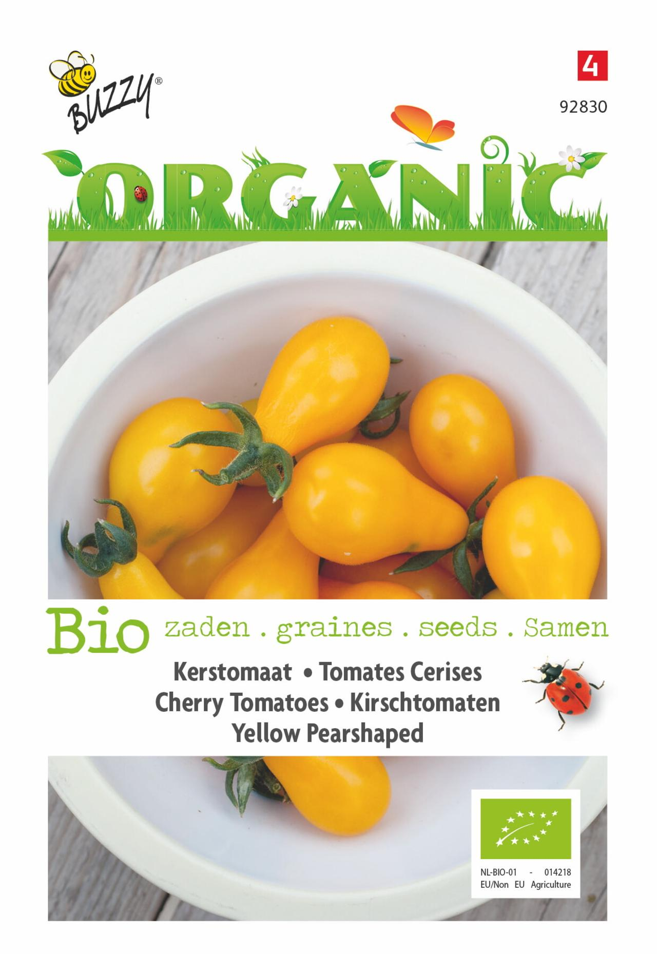 Solanum lycopersicum 'Yellow Pearshaped' (BIO) plant